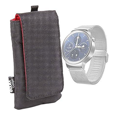 Housse étui noir pour Huawei Watch 2 / Sport / Watch 2 Classic montre GPS sport connectée - rembourré, par DURAGADGET
