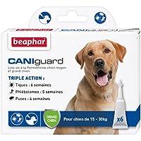 Beaphar - CANIguard, pipettes antiparasitaires, anti-puces, anti-tiques et anti-phlébotomes - chien moyen et grand chien (15/30kg) - 6 pipettes