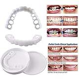 HUAJIE Carillas Dentales Dientes Postizos Temporales Inferior y Superiores Cómoda Reutilizable para Cuidado Dental,Lowerteeth