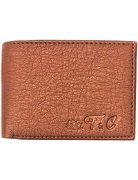 Pure Luxuries Genuine Bi Fold Men's Leather Wallet (Tan)