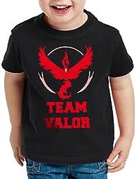 CottonCloud Team Valor Kinder T-Shirt Rot Red Wagemut