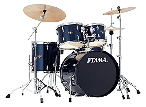 Tama ip50h6N-mnb-60Bloc Imperial Star Drumkit (Drum Set complet avec tabouret, Chaudron en bois sechslagigem peuplier Kit, structures doubles, MEINL MCS Bac inclus) Midnight Blue