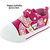Peppa Pig 'Isobella «formateurs Toile - rose et blanc les filles Belle Chaussures - Taille: 9