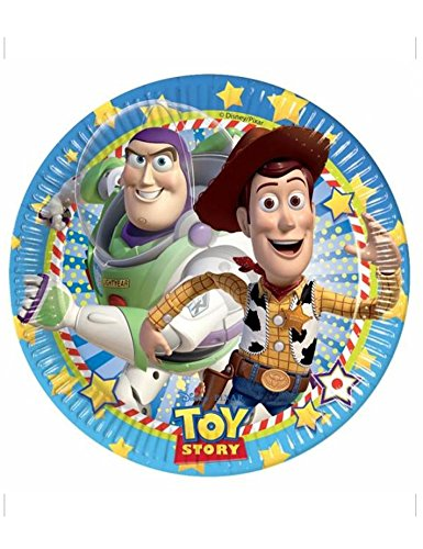 8 assiettes carton Toy Story star power - taille - Taille Unique - 216309