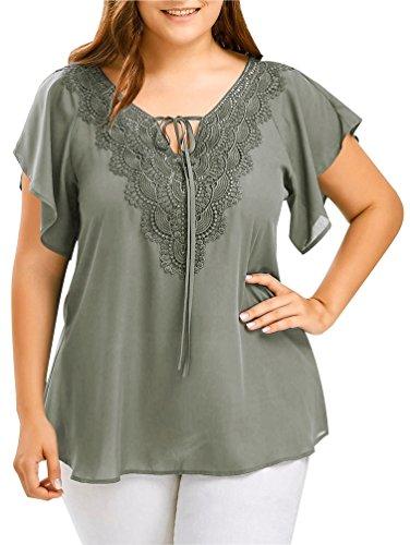 in vendita f684f 47958 Bluse Eleganti Taglie Forti Donna Estive Magliette T Shirt V ...