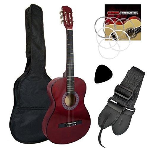 Tiger music - set chitarra classica 3/4, colore rosso