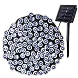 Qedertek Solar Christmas Lights, 72ft 200 LED Solar Fairy Lights, Waterproof Outdoor Garden