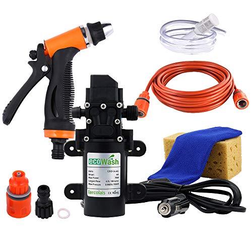 Tragbare Hochdruckreiniger 120PSI Auto Elektrische Waschmaschine Pumpe mit 8 Mt Hochdruckreiniger Schlauch für Haus, Garten, Fahrzeuge, Projekte ()