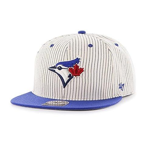 MLB Toronto Blue Jays Woodside Captain Adjustable Snapback Hat, One Size, Navy