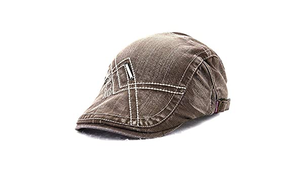 881a2281955 Tradico Unisex Cotton Washed Embroidery Beret Hat Duckbill Golf Buckle Visor  Cabbie Cap for Men Women  Amazon.in  Home   Kitchen