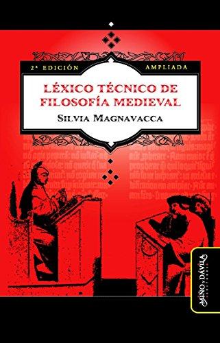 Léxico Técnico de Filosofía Medieval (Segunda Edición Ampliada ...