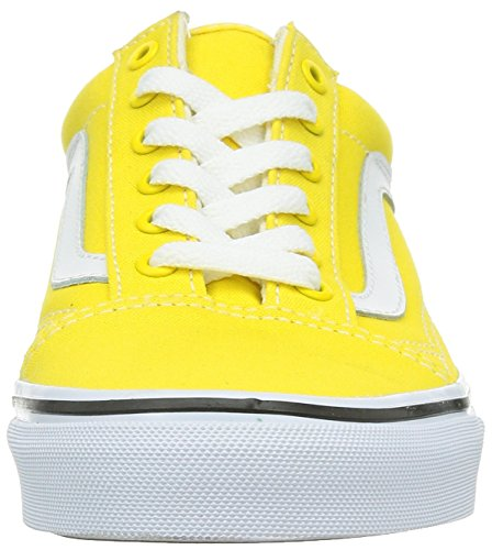 Vans U Old Skool, Baskets mode mixte adulte canvas vibrant yellow-true white