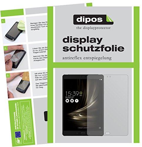 dipos I 2X Schutzfolie matt passend für Asus ZenPad 3S 10 LTE (2017 / Z500KL) Folie Bildschirmschutzfolie