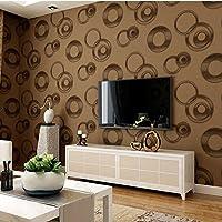 2018 Wallpaper Moderne Tapete 3D Kreis Tapete PVC Wasserdichte Tapete  Schlafzimmer Wohnzimmer Persönlichkeit Kleidung Shop Kreisförmige
