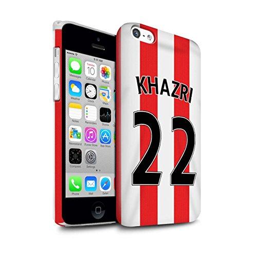 Offiziell Sunderland AFC Hülle / Glanz Snap-On Case für Apple iPhone 5C / Pack 24pcs Muster / SAFC Trikot Home 15/16 Kollektion Khazri