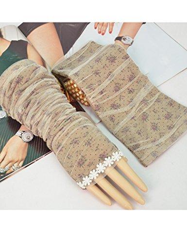 Nouveaux gants de mode Verts d'été Conduisant des gants de dents longues et minces Anti-UV Gants de soie à glace à lacets ( Couleur : 1 ) 2