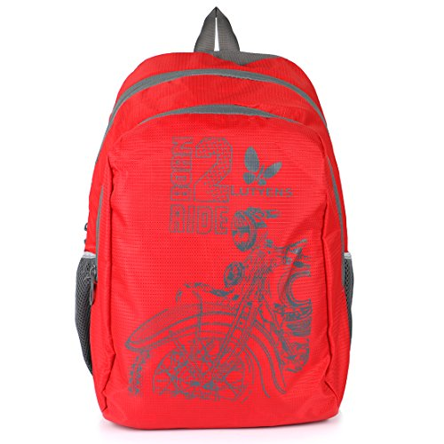 Lutyens Polyester Red Mini Casual Backpack