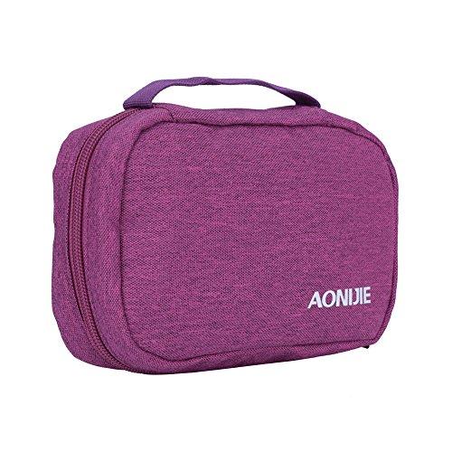 Sacchetto cosmetico portatile Wterproof Bag di grande capacità di toilety del sacchetto di organizzazione di immagazzinaggio del sacchetto di trucco(Grigio) Viola