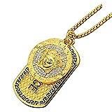 ORKST Joyas Medusa Colgante Chapado en Oro Collar con Longitud de Cadena 75cm