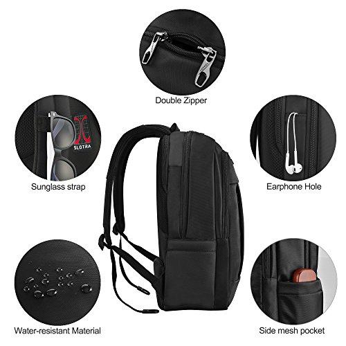 Bild 6 - Slotra Laptop Rucksack 15,6-17 Zoll Wasserabweisend Reisen Outdoor  Mordern 6594ebfc4a