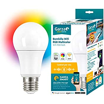 Garza Bombilla Led WiFi RGB Alexa, 9 W, Multicolor, 70 X 135 Mm