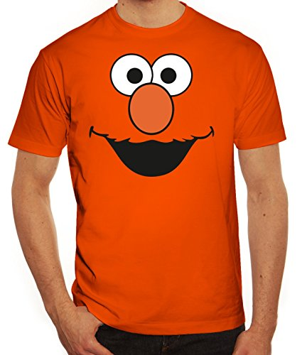 rkleidung Herren T-Shirt Gruppen & Paar Kostüm Red Monster, Größe: 3XL,Orange (Monster-kostüme Ideen)