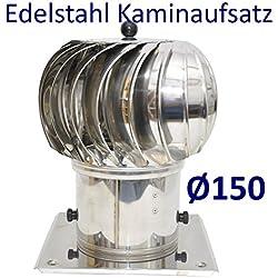 Extracteur de cheminée tournant En acier inoxydable Ø 150 mm Aération de conduit de cheminée