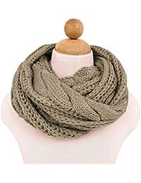 Luna et Margarita Echarpe Cercle en Tricot à Crochet Twist 8 Couleurs  Foulard Hiver pour Femme 25a9b096958
