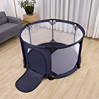 Baby Playpen Durable Toddler Play Pen Large Size (Ø 140cm) - Navy