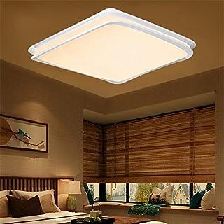 MCTECH® 64W Warmweiß LED Deckenleuchte Deckenlampe Doppelte-Schichten Modern Panel Leuchte Flur Wohnzimmer bad Küche Schlafzimmer Küche Energie Sparen Licht Wandleuchte Lampe (64W WarmWeiß)