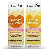 I Love... Pack of 2 Shower Gel Christmas Giftsets Mango & Lemon