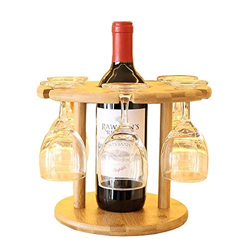 Gossipboy en bois amovible support de vin rouge et verre de bambou Tasses Séchage à suspendre avec support