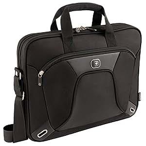 """Wenger 600644 ADMINISTRATOR 15.4"""" MacBook Pro boîtier slim, compartiment pour ordinateur portable rembourré avec iPad/tablette/eReader de poche en noir {6 Litres}"""