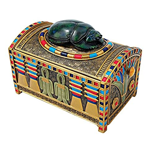 Design Toscano WU72299 Boîte aux trésors ornée d'un scarabée royal