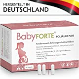 BabyFORTE FolsäurePlus Vitamine • 60 Kapseln • 400