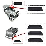 Kingwon 3 x Silicone Battery Charging Port Terminal Cover Cap Dustproof for DJI Mavic Pro ,1 x Silicone Anti-Dust Protector Cover for DJI Mavic Pro Battery Frame Black