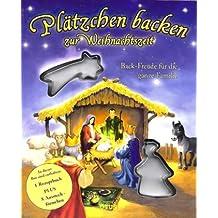 Plätzchen backen zur Weihnachtszeit - Die Weichnachtsgeschichte plus 8-teiliges Backset