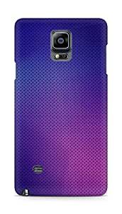 Amez designer printed 3d premium high quality back case cover for Samsung Galaxy Note 4 (Pattern purple color)