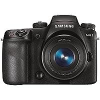 Samsung NX1 Systemkamera (Full HD Video, 4K Video, 28,2 Megapixel, 16-50 mm ED OIS Power Zoom Objektiv) schwarz