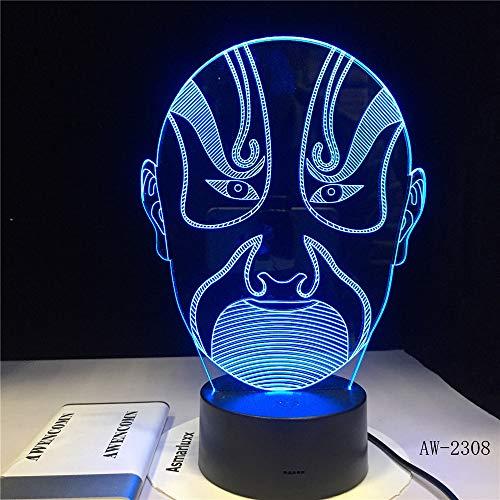 htillusion 3d / 3d führte Nachtlicht/Weihnachtsgeschenk-Nachtlicht/perfekte Geschenke Kinder/Handwerk/Peking-Oper ()