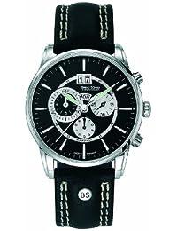 Bruno Söhnle Herren-Armbanduhr Atrium Chronograph Quarz Leder 17-13054-741