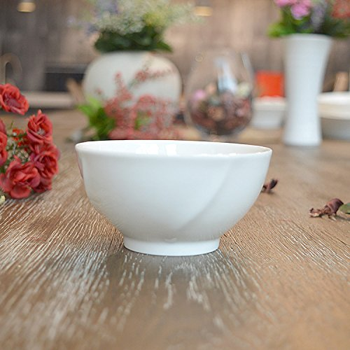 Rentzu Art De La Table, Céramique Bol, Bol De Riz, Bol En Céramique,Blanc 10-10.9Cm