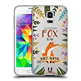 Head Case Designs Fuchs Seelen Tiere Abbildungen Soft Gel Hülle für Samsung Galaxy S5 Mini