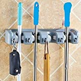 Krevia Mop And Broom Holder, Multipurpose Wall Mounted Organizer Storage Hooks, Ideal Broom Hanger For Kitchen Garden And Garage - 1pc
