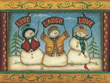 live-laugh-love by Lewis, Kim-stampa fine art disponibile su tela e carta, Tela, SMALL (16 x (Folk Primitive Decor)