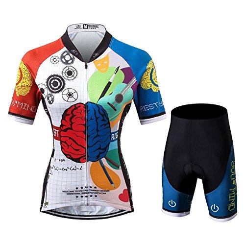 Thriller Rider Sports® Damen Rest Your Mind Sport & Freizeit MTB Fahrradbekleidung Radtrikot und Kurze Hose Anzüge X-Large