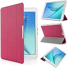 iHarbort® Samsung Galaxy Tab S2 9.7 Funda - ultra delgado ligero Funda de piel de cuerpo entero para Samsung Galaxy Tab S2 9.7 T810 , con la función del sueño / despierta (Galaxy Tab S2 9.7, rosa fuerte)