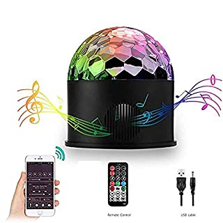 Disco Light Bluetooth Speaker, AOMEES Disco Lights for Kids Disco Ball Light Rotating