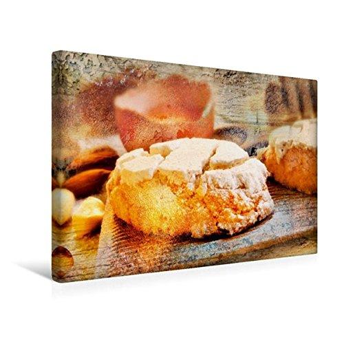 Calvendo Premium Textil-Leinwand 45 cm x 30 cm quer, EIN Motiv aus dem Kalender Italian Food - Vintage Design | Wandbild, Bild auf Keilrahmen, Fertigbild auf Mandelgebäck Lifestyle Lifestyle
