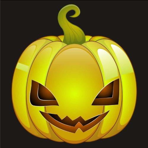 V-T-Shirt - Kürbis 07 - Halloween - pumpkin - Damen Schwarz